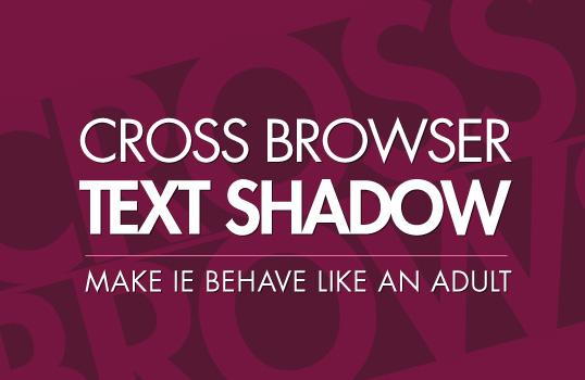 crossbrowser textshadow
