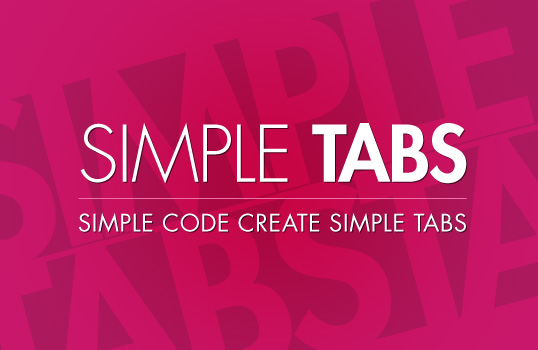 jquery simple tabs